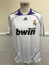 ADIDAS REAL MADRID HOME 2007-2008 FOOTBALL SOCCER SHIRT JERSEY SIZE LARGE ADULT