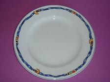 Assiette plate 17cm BORGHESE ruban bleu porcelaine BERNARDAUD Limoges