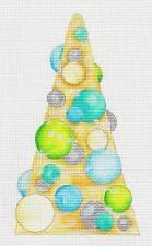 Tall Glitter Tree  B&G handpainted Needlepoint Canvas from Raymond Crawford