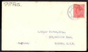 Tristan Da Cunha 1921  Letter to London  Cachet III    SG.C3