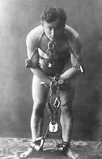 "Harry Houdini Bound in Chains and Locks Erik Weisz - 17"" x 22"" Fine Art Print"