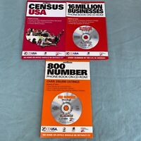 Census USA Business Phone Book CD-Rom 800 Number Vintage Computer Software 1990s