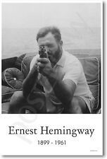 Ernest Hemingway with Tommy Gun - American Author NEW POSTER