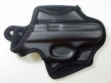 NEW BLACK POLYURETHANE LEATH BELT HOLSTER FOR WALTHER PPK/S.380 ACP - RIGHT HAND