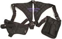 Black Shoulder Holster w/ Mag Pouches Fits Rock Island S&W Kimber Colt .45 1911