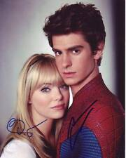 EMMA STONE & ANDREW GARFIELD Signed THE AMAZING SPIDERMAN Photo w/ Hologram COA