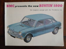 AUSTIN 1800 brochure c1966 - BMC BL Pininfarina - 2267/E