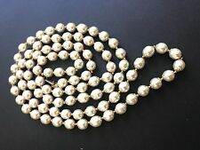 """Sign Miriam Haskell Large Baroque Pearls Rhinestone Necklace Jewelry 46"""" Long"""
