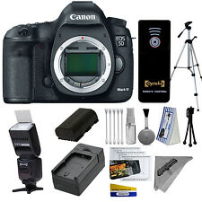 Canon 5D Mark III Digital SLR Camera Basic Kit + Opteka Flash IF980