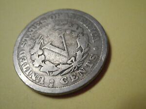 "1912 ""D"" OVER ""S"" MINT MARK LIBERTY NICKEL VG CONDITION"