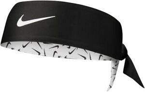 Nike Sports Running Dri-Fit Head Tie 3.0 - White/Black