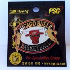 NEW Chicago Bulls Basketball Pin PSG NBA Vintage Label Pin