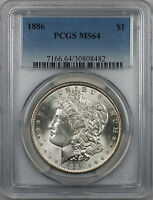 1886 Morgan Silver Dollar $1 Coin PCGS MS-64 (7F)