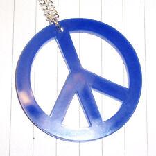 60s Retro Peace Logo Charm Necklace Fancy Dress Kitsch Kawaii