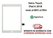 TOUCH SCREEN Per Apple iPad 6 6A GEN. 9.7 2018 A1893 A1954 WiFi e 3G BIANCO