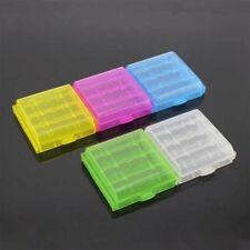 5x/set Kunststoff Translucent Case Holder Aufbewahrungsbox für AA AAA Batterie~