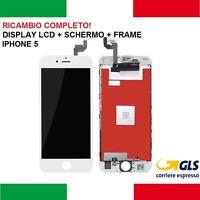 PANTALLA LCD + TÁCTIL + FRAME APPLE IPHONE 5 VIDRIO BLANCO piezas de repuesto