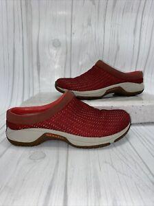Merrell Encore Breeze Red J66488 Mesh Clogs Womens Size 7 Ortholite Comfort
