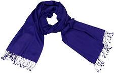 Pashmina Schal Iris Lila, 91x205 70% Cashmere 30% Seide silk scarf Purple