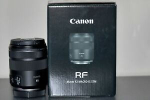 Canon RF 85mm F2.0 Macro IS STM Lens – Absolutely As New