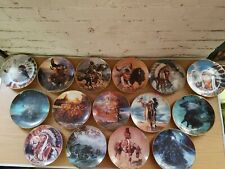 Lot Of 15 Western Heritage Heirloom Plate Spirit Wolf Wind Eagle Moon Desert Le