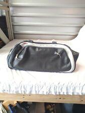 Vintage 90s Puma  Handled  Duffel Bag Gym Bag Carry On silver on grey