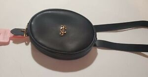 JUICY COUTURE Belt Bag Fanny Pack Black M/L Signature Buckle New