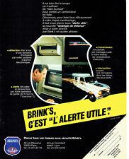 Publicité Advertising 107  1984   Brink's   alarmes alertes utiles