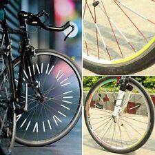 Rim Mount Clip Spoke Warning Reflective Bicycle Strip Light Reflector