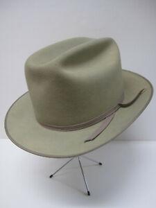 PARIS HATTERS Fedora Open Road Hat 100% Fur Size 7¼