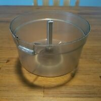 GE General Electric Food Processor D1FP2 Work Bowl with Screw Ring Post Shaft