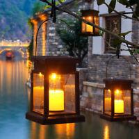 2pcs Solaire Lanterne Bougie Scintillement Extérieur Lampe Jardin Décorative