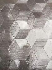 Hexagon Cement Floor tiles with honeycomb design 3D effect 275x275x30mm