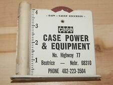 Vintage Case Power & Equipment Rain Gauge Beatrice Nebraska w orig instructions