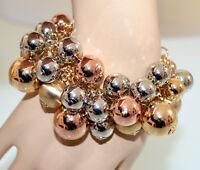 PULSERA mujer colgantes oro plata rosa oro brazalete elegante браслет G31