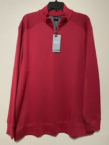 Hugo Boss Men's Half Zip Up Sweatshirt Sz XXL Red Color