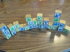 Playskool Jim Henson Sesame Street 27 Wood Blocks Characters ABC