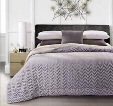 King Size-Grey Chevron Cutwork-Sherpa Comforter-1 Piece-87x95-New