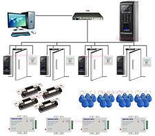 Bio Fingerprint RFIDTiempo Asistencia Sistema ANSI Strike bloqueo de alimentacio