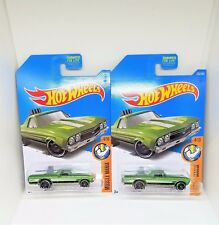 2017 Hot Wheels '68 El Camino - No. 333 - Metalflake Green- Set of 2
