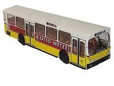 Brekina MB O305 Le Stuttgart TRAMWAY Ligne 56 AVEC VOITURE Wetzel Publicité NEUF