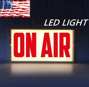 On Air Studio Sign LED Box Neon Light Night Light Box Remote Control TV Home Bar