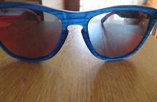 Anteojos De Sol Armazón Frogskins Oakley Azul Mate viruta Lente antorcha Iridio Nuevo En Caja