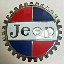 NEW Indoor/Outdoor Vintage Jeep Badge Emblem- Adhesive Backed- Chromed Brass