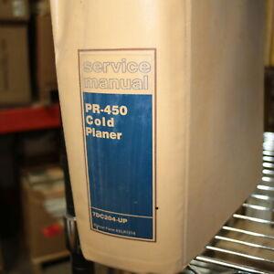 CAT CATERPILLAR PR-450 Cold Planer Repair Shop Service Manual rotomill profiler