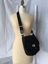 •La Bagagerie• Black Quality Nylon Shoulder Cross Body Messenger Handbag EUC