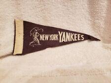 RARE 1950's New York Yankees 9 Inch Blue&White Felt Mini Pennant, VERY COOL!