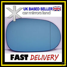 Right Driver Side Wing Mirror Glass  MERCEDES ML W163 98-02 Wide Angle Blue