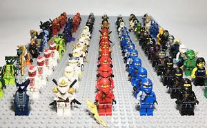 100% Genuine Lego Ninjago RANDOM Minifigures Lloyd Zane Cole Kai Jay -- Lot of 4
