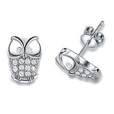 Owl Earrings Charm Gift Lady Ear Stud Fashion Women Crystal Rhinestone Jewelry